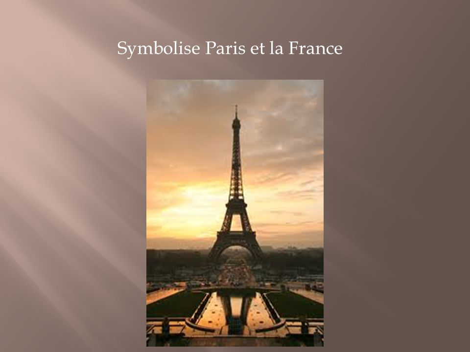 Symbolise Paris et la France