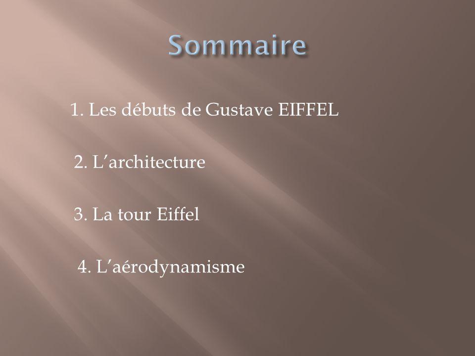 Sommaire 1. Les débuts de Gustave EIFFEL 2. L'architecture