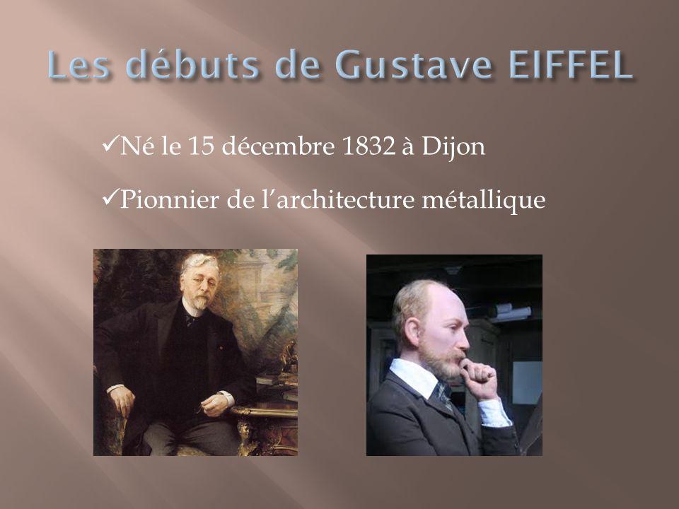 Les débuts de Gustave EIFFEL