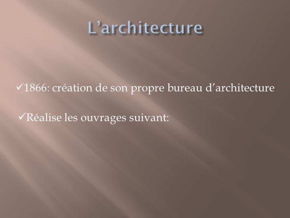 L'architecture 1866: création de son propre bureau d'architecture