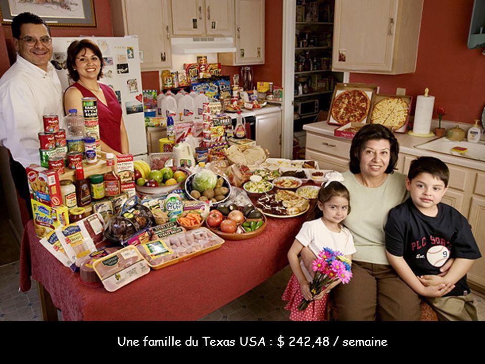 Une famille du Texas USA : $ 242,48 / semaine