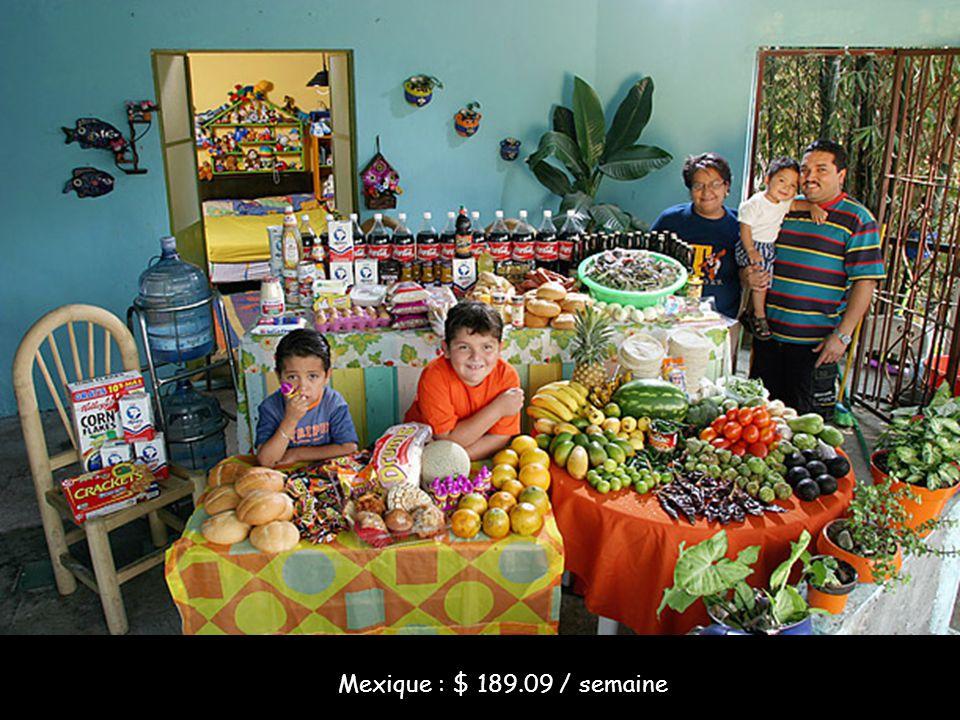 Mexique : $ 189.09 / semaine