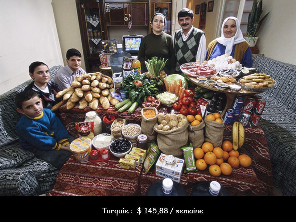 Turquie : $ 145,88 / semaine