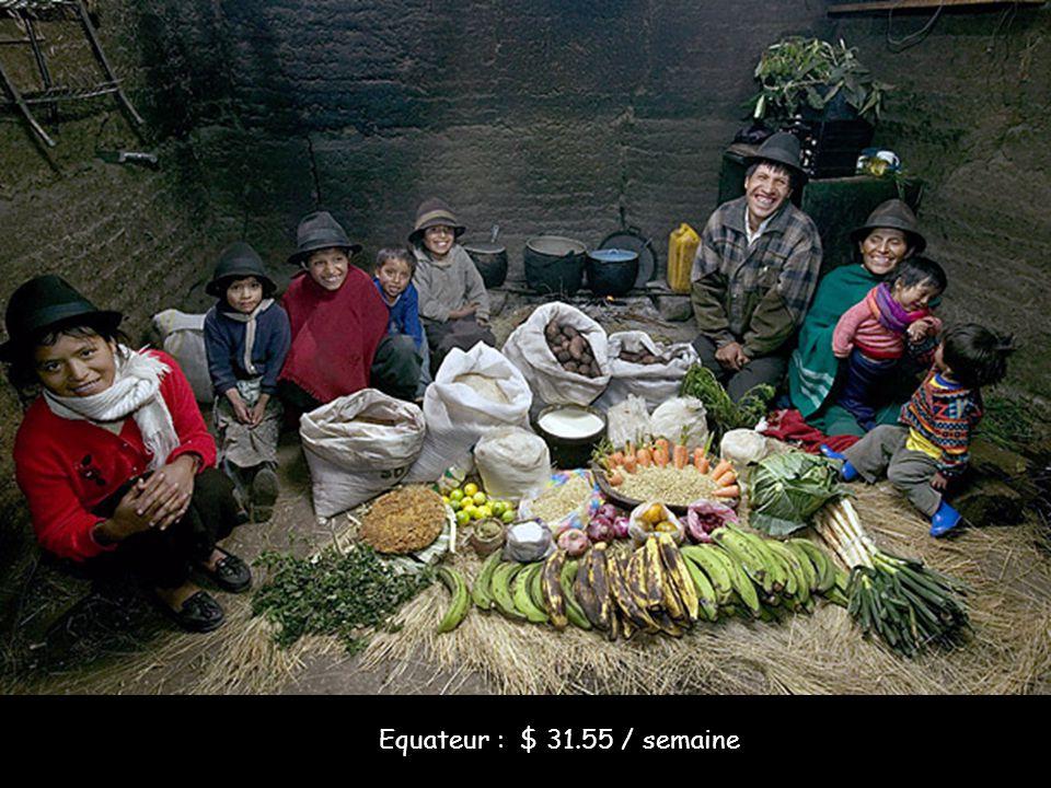 Equateur : $ 31.55 / semaine