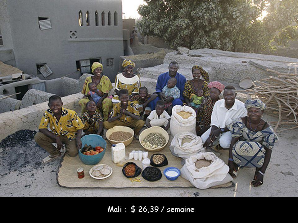 Mali : $ 26,39 / semaine