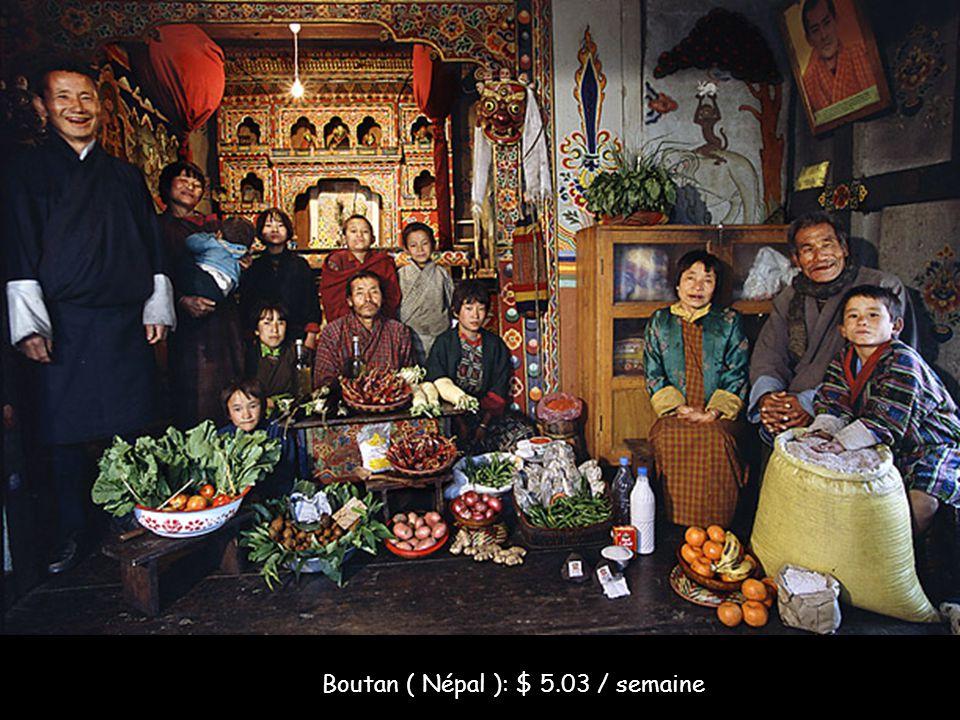 Boutan ( Népal ): $ 5.03 / semaine