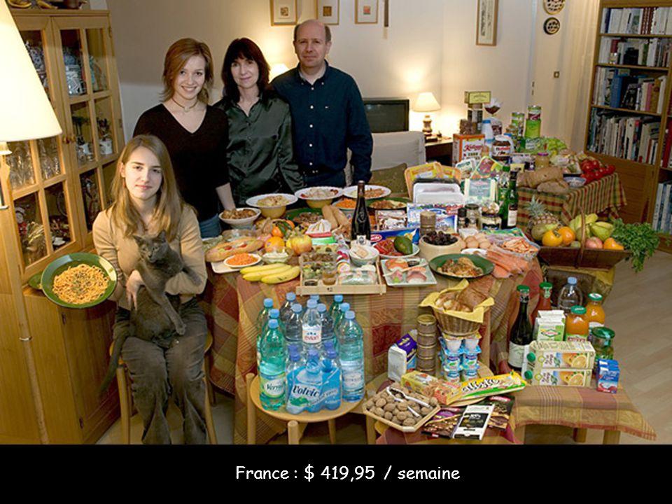 France : $ 419,95 / semaine