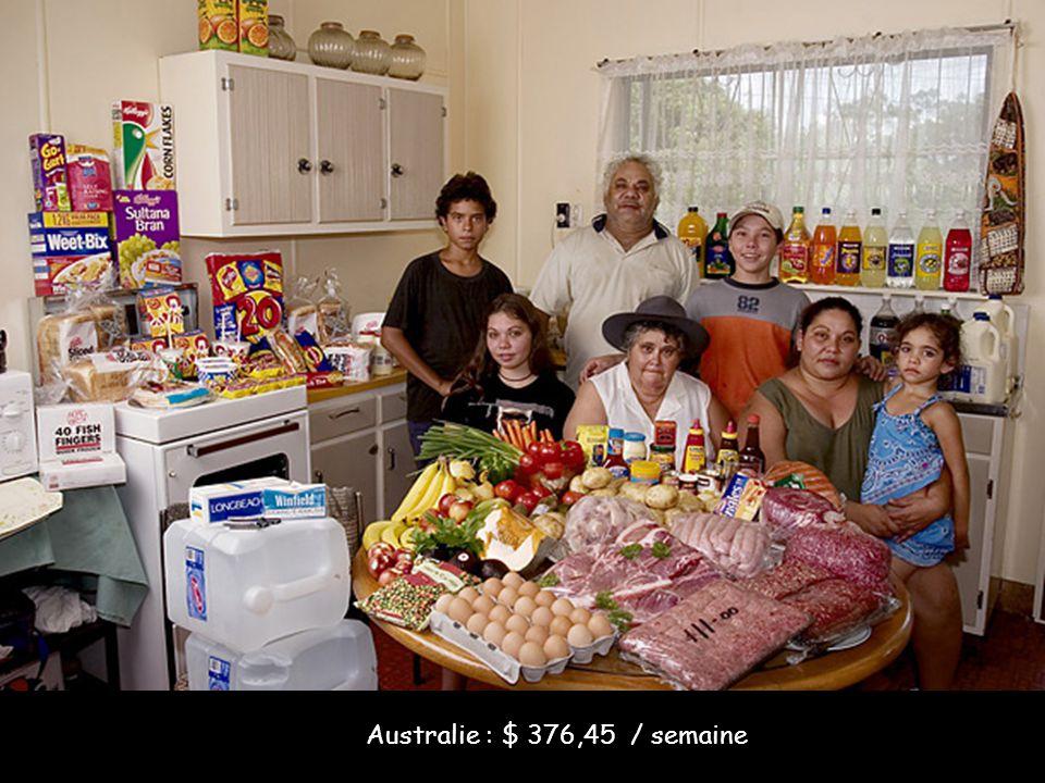 Australie : $ 376,45 / semaine