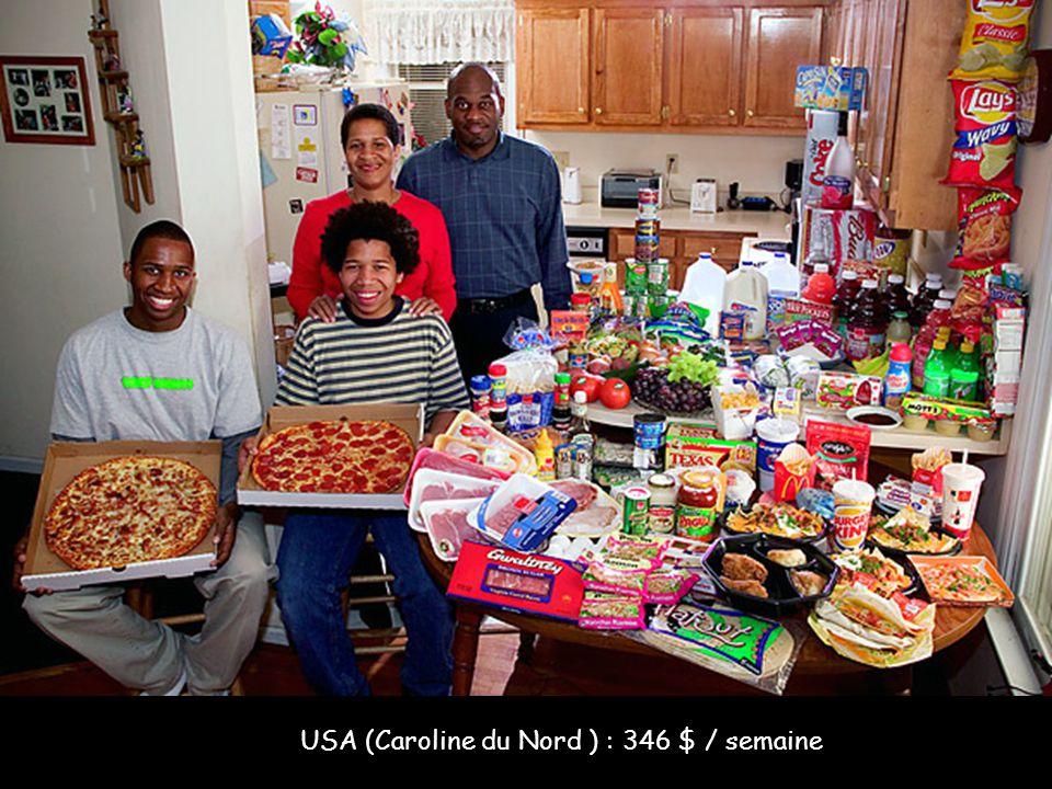 USA (Caroline du Nord ) : 346 $ / semaine