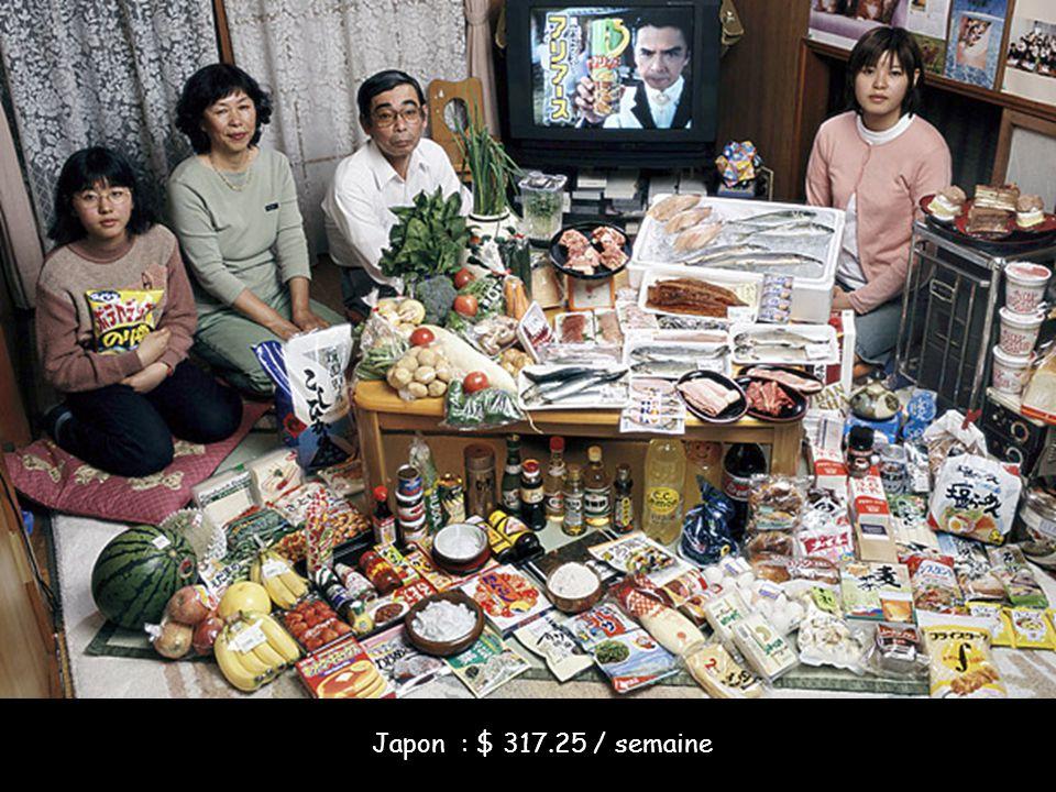 Japon : $ 317.25 / semaine