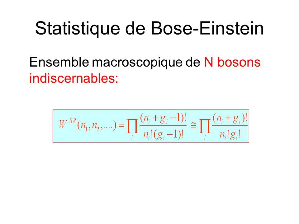 Statistique de Bose-Einstein