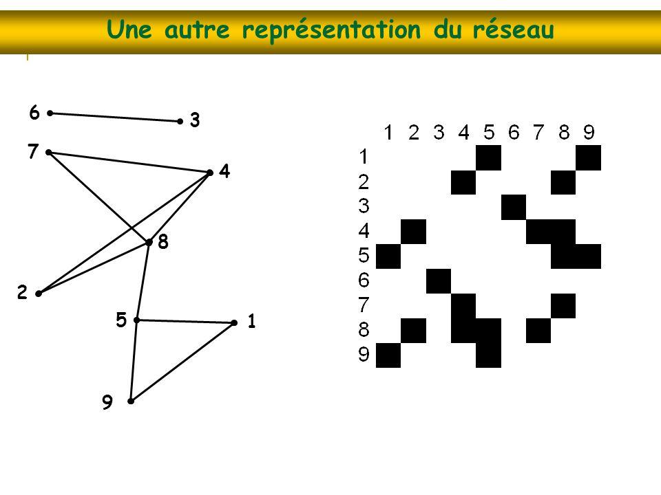 Une autre représentation du réseau
