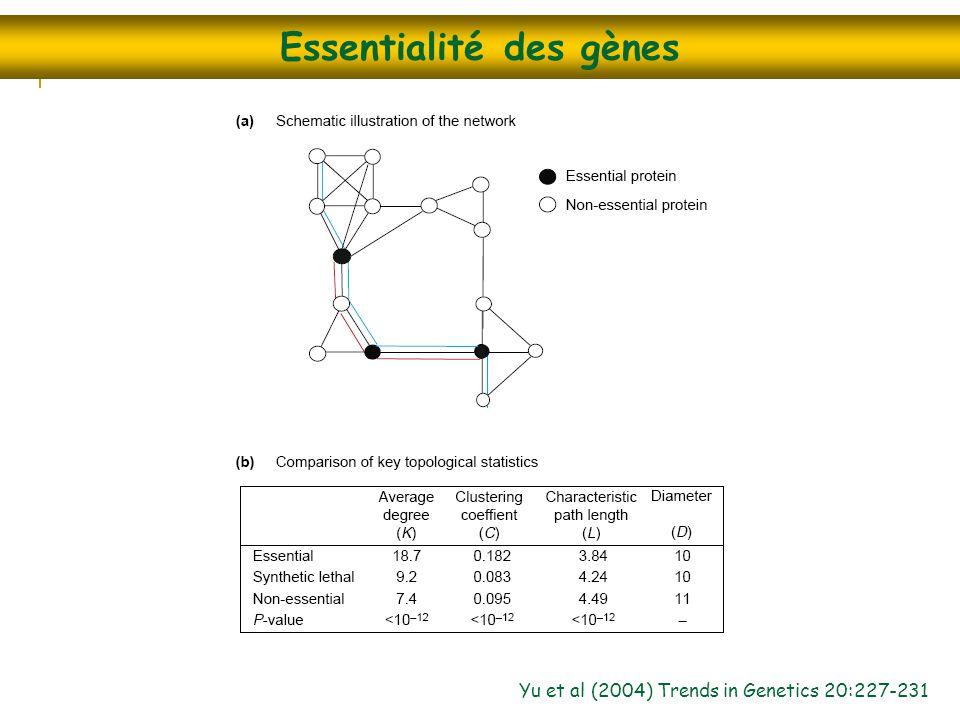 Essentialité des gènes