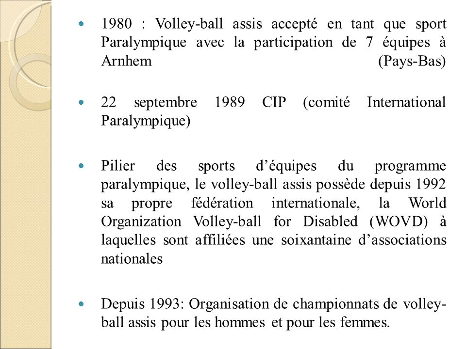 22 septembre 1989 CIP (comité International Paralympique)