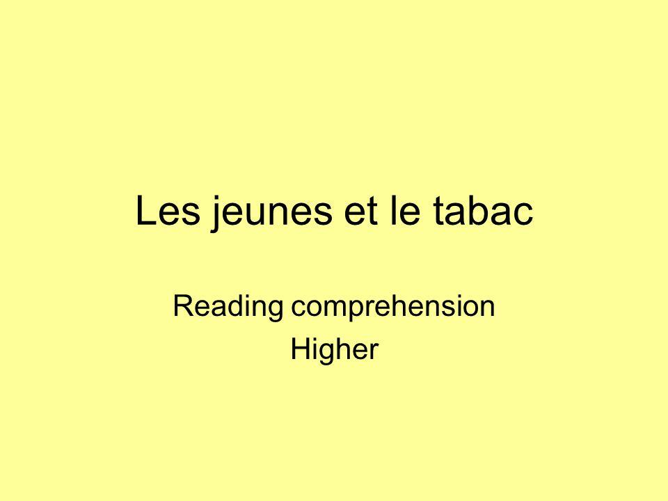 Reading comprehension Higher