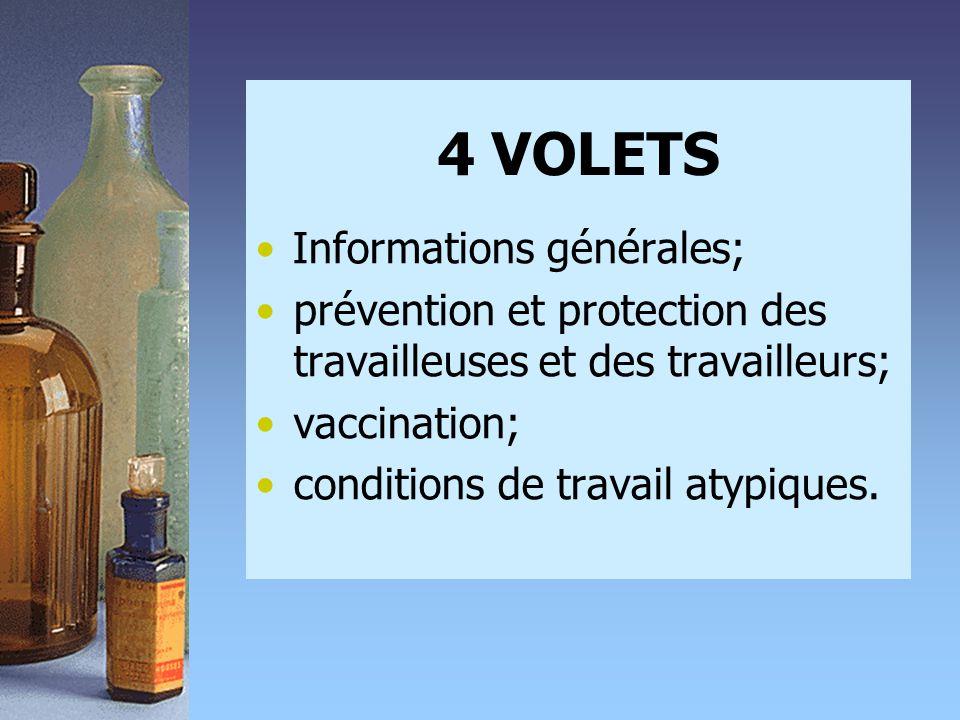 4 VOLETS Informations générales;
