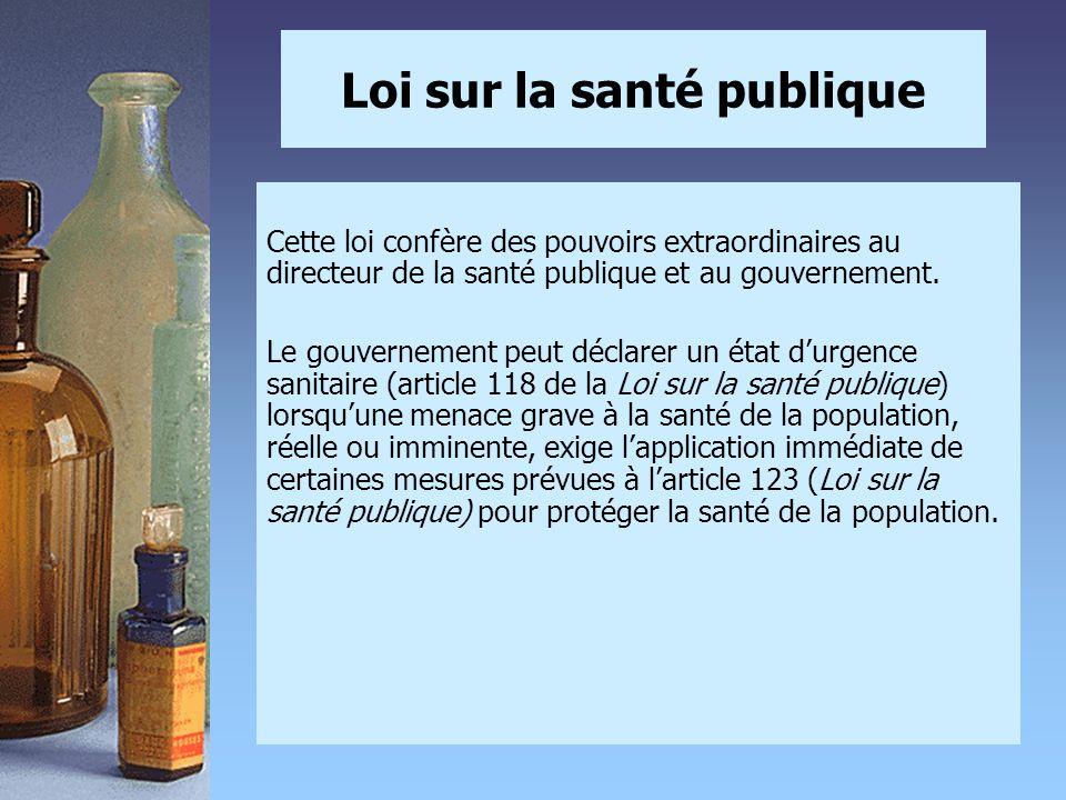 Loi sur la santé publique