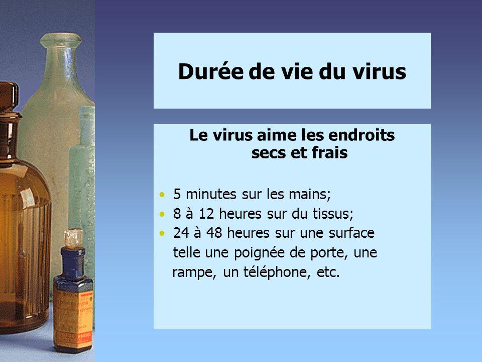 Le virus aime les endroits secs et frais