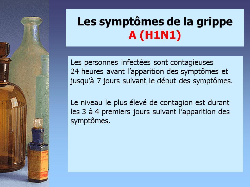 Les symptômes de la grippe A (H1N1)