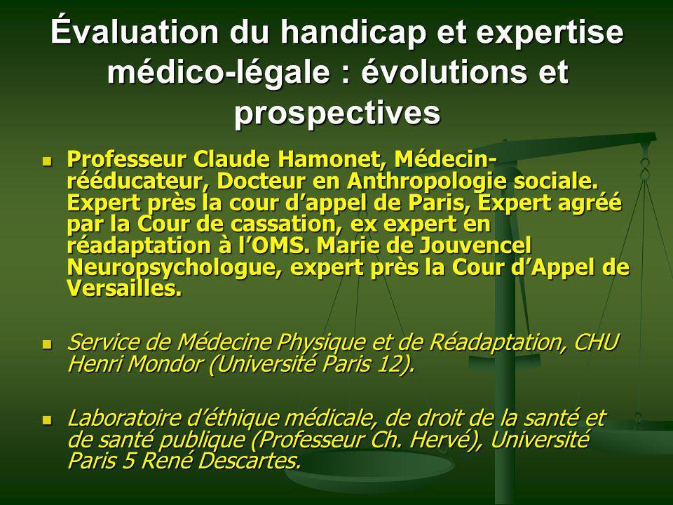 Évaluation du handicap et expertise médico-légale : évolutions et prospectives
