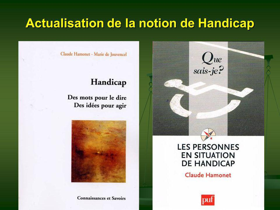 Actualisation de la notion de Handicap