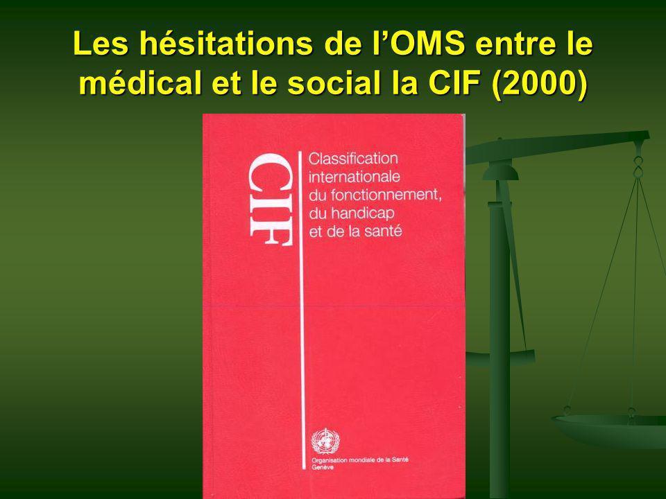 Les hésitations de l'OMS entre le médical et le social la CIF (2000)