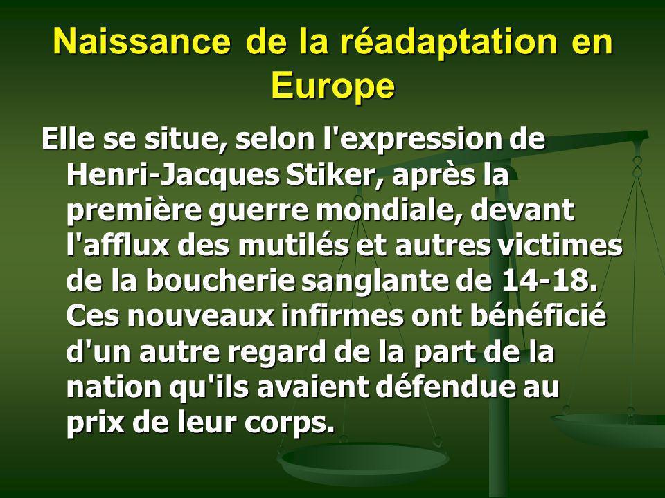 Naissance de la réadaptation en Europe