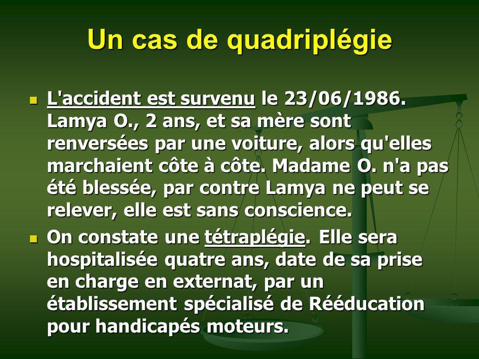 Un cas de quadriplégie