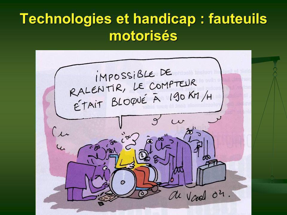 Technologies et handicap : fauteuils motorisés