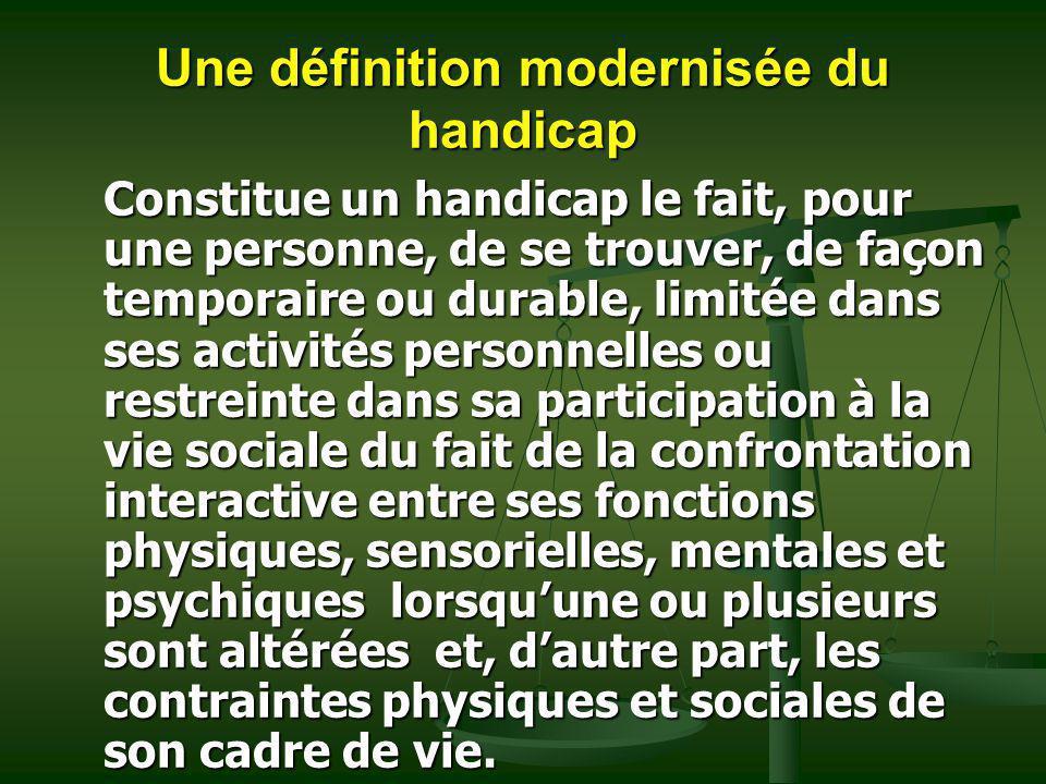 Une définition modernisée du handicap