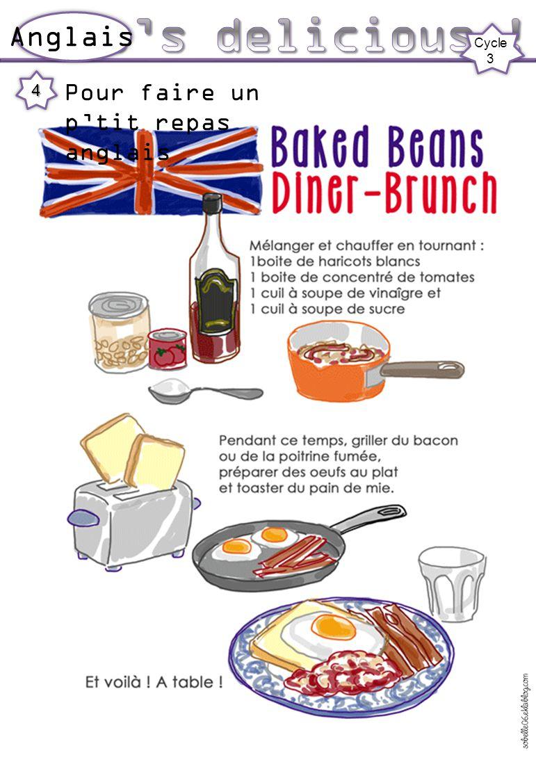 It's delicious ! Anglais Cycle 3 Pour faire un p'tit repas anglais 4