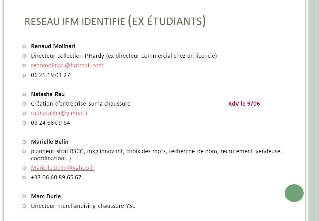 RESEAU IFM IDENTIFIE (ex étudiants)