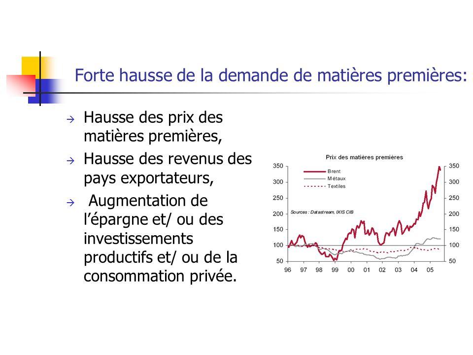 Forte hausse de la demande de matières premières:
