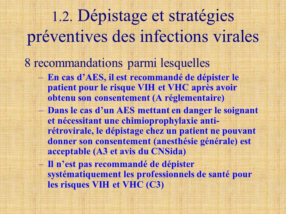 1.2. Dépistage et stratégies préventives des infections virales