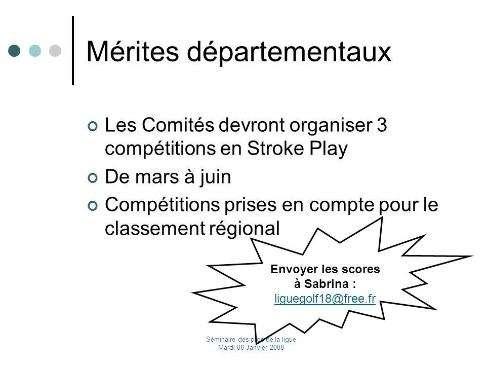 Mérites départementaux