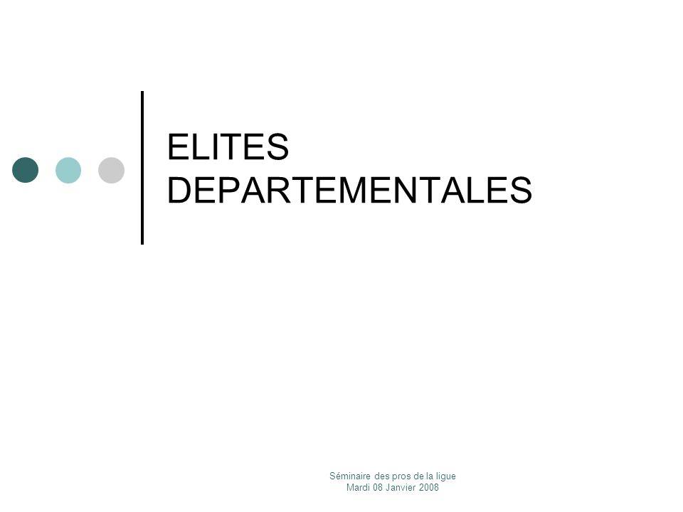 ELITES DEPARTEMENTALES