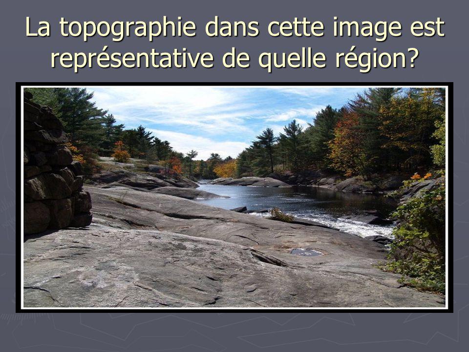 La topographie dans cette image est représentative de quelle région