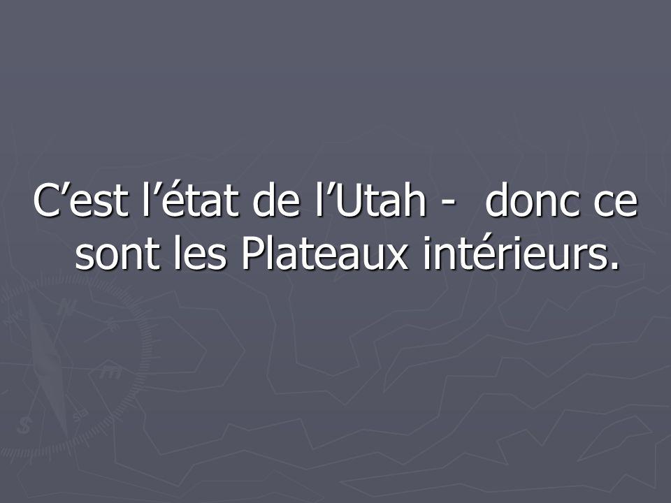 C'est l'état de l'Utah - donc ce sont les Plateaux intérieurs.