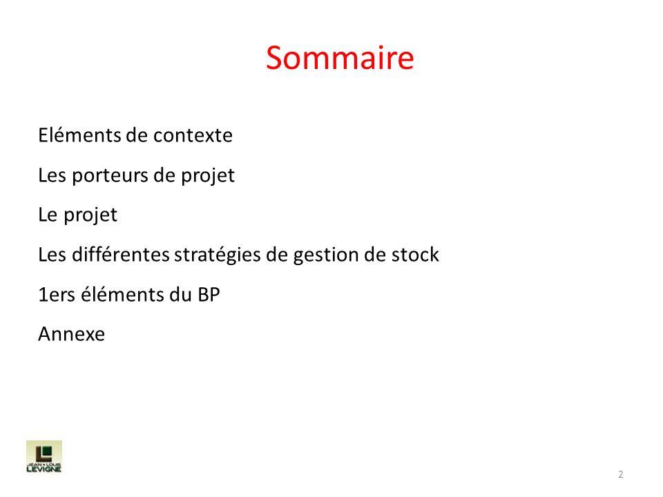 Sommaire Eléments de contexte Les porteurs de projet Le projet