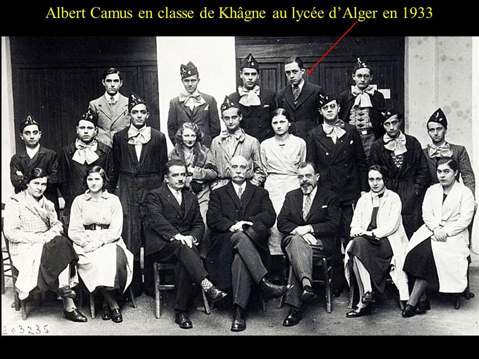 Albert Camus en classe de Khâgne au lycée d'Alger en 1933