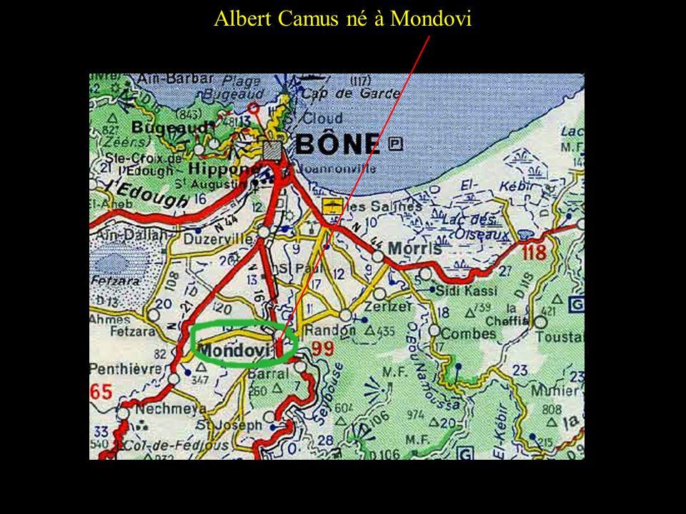 Albert Camus né à Mondovi