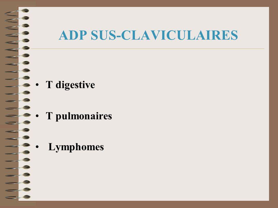 ADP SUS-CLAVICULAIRES