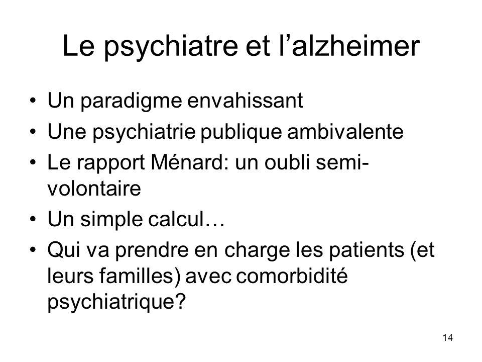 Le psychiatre et l'alzheimer