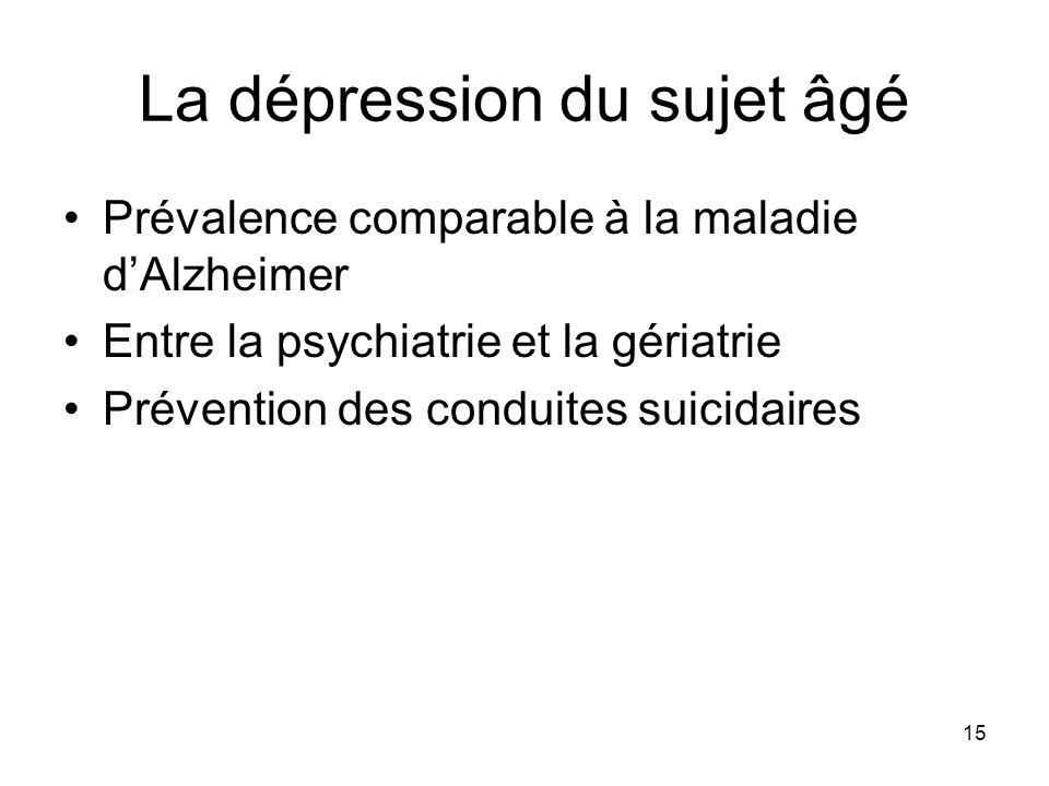 La dépression du sujet âgé