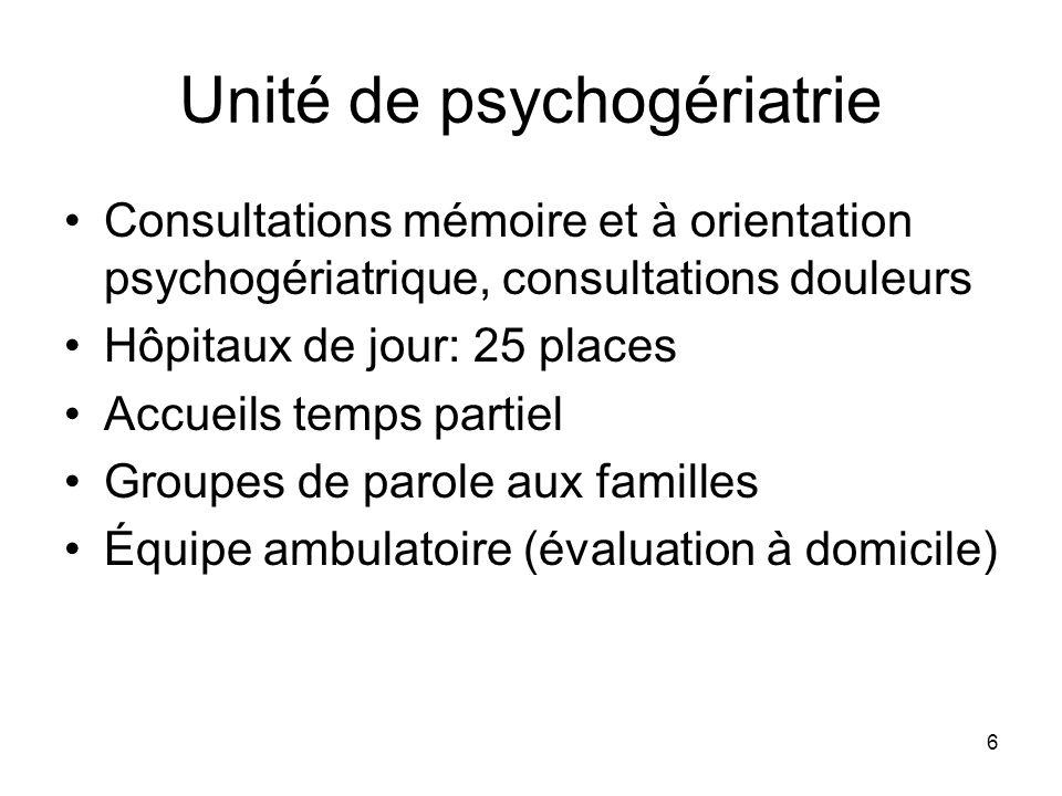 Unité de psychogériatrie