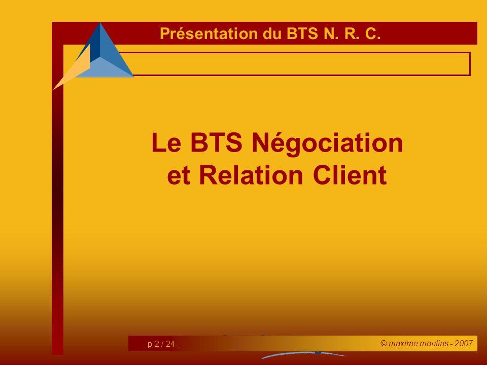 Le BTS Négociation et Relation Client