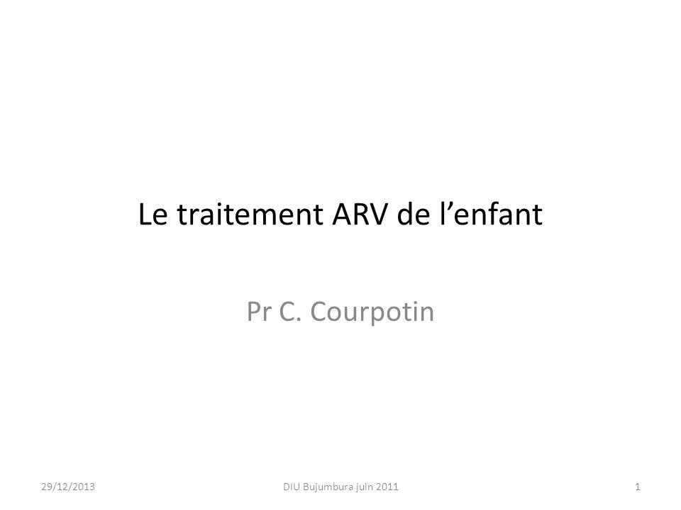 Le traitement ARV de l'enfant