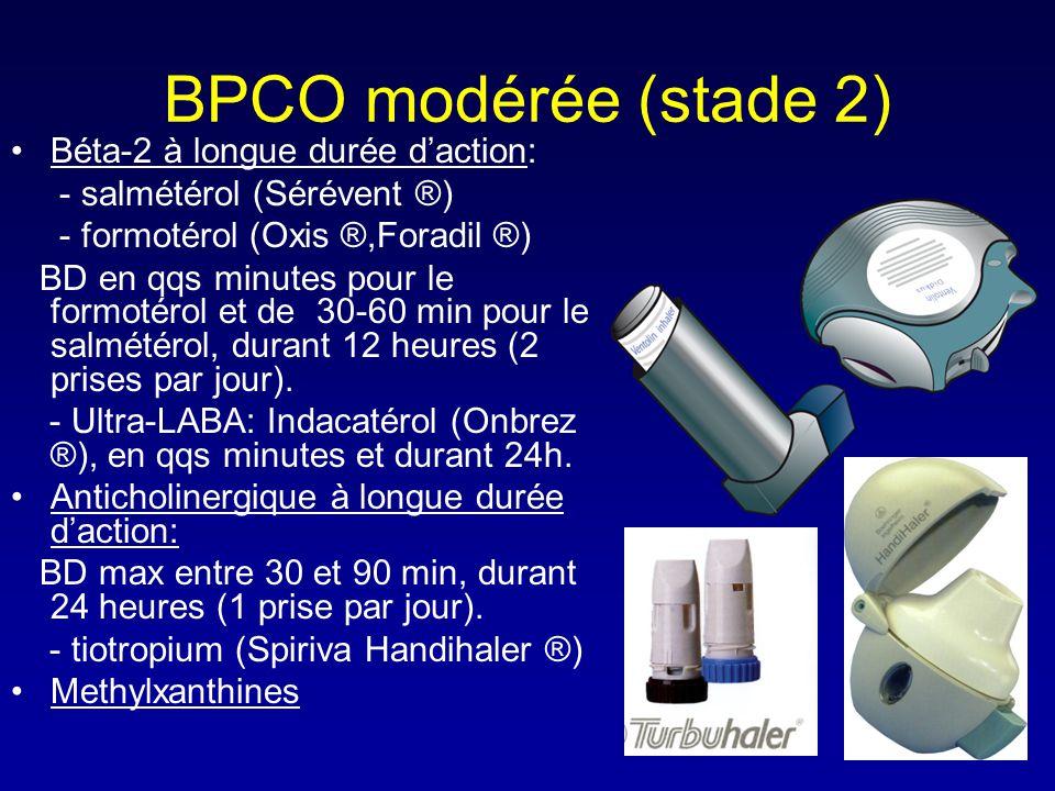 BPCO modérée (stade 2) Béta-2 à longue durée d'action: