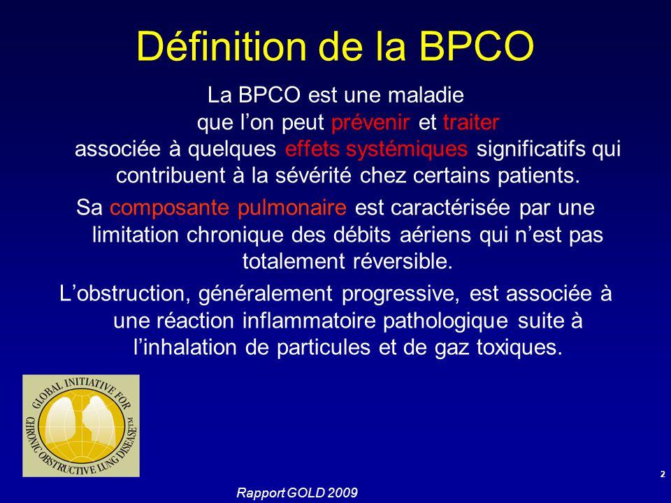 Définition de la BPCO
