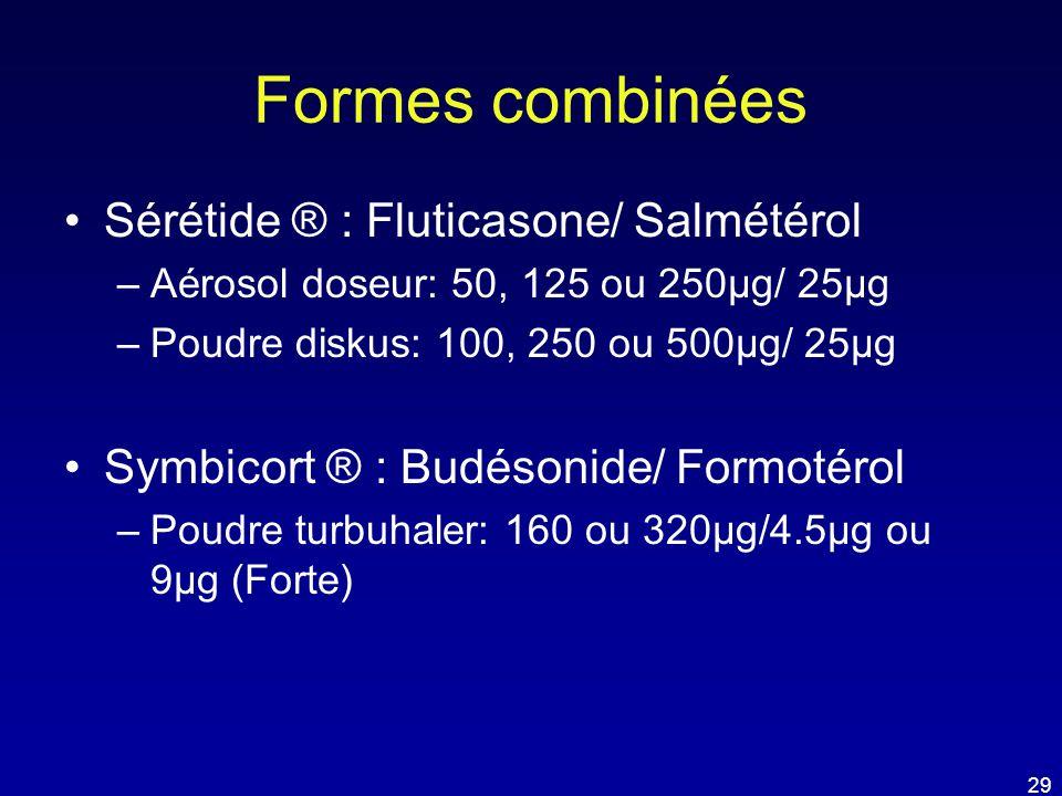 Formes combinées Sérétide ® : Fluticasone/ Salmétérol